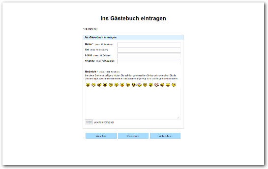 PHP Gästebuch Skript Eintragen